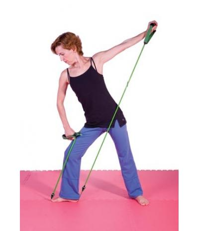 Resistance tube with central ribbon 1_2m  17Lbs - Strong